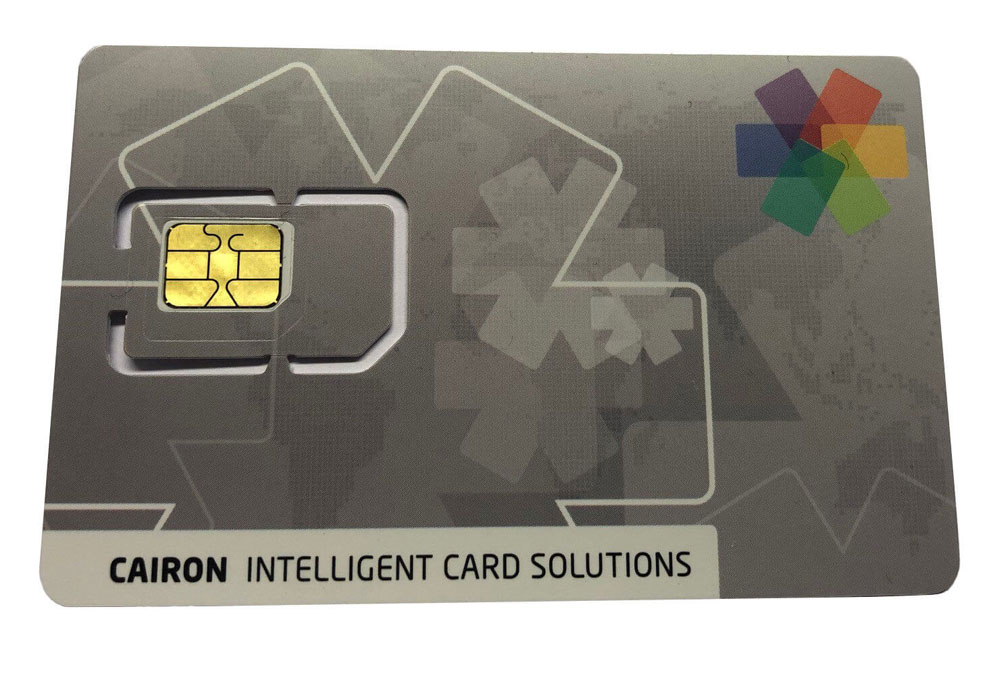 Telecommunication: Picture of CAIRON Sim Card